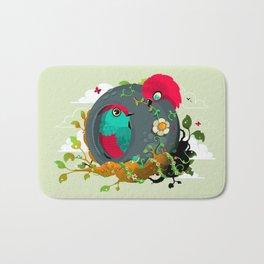 birdies in love Bath Mat