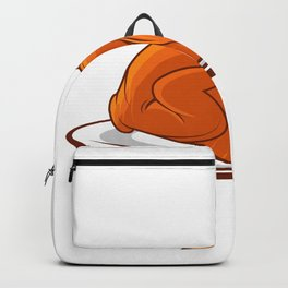 Thanksgiving turkey bird food roast day gift Backpack
