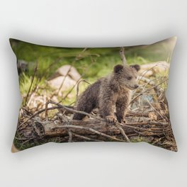 Cute Bear Cub Rectangular Pillow