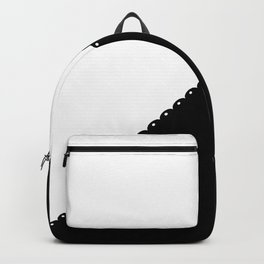 Contemporary black white colorblock lace stripe Backpack