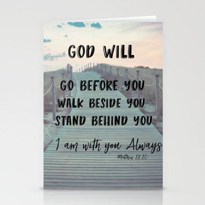 Quote Cards Mesmerizing I Am With You Always Bible Verse With Quote Stationery Cards By