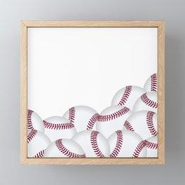 Pile of Baseballs  Framed Mini Art Print