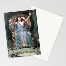 John William Waterhouse - Circe Offering The Cup To Odysseus - Digital Remastered Edition Stationery Cards