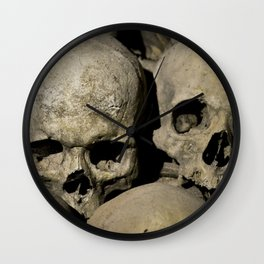 skulls couple Wall Clock