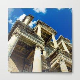 Library Ruins in Ephesus, Turkey (Square) Metal Print