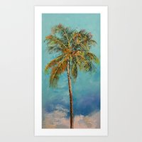 palm tree Art Prints featuring Palm Tree by Michael Creese
