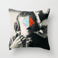 blues brothers Throw Pillows featuring BROTHERS by Hugo Barros