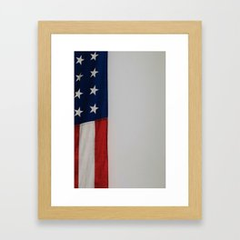 Side Flag (Color) Framed Art Print