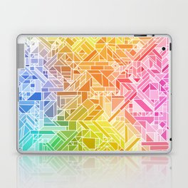 Bright Gradient (Hot Pink Orange Green Yellow Blue) Geometric Pattern Print Laptop & iPad Skin