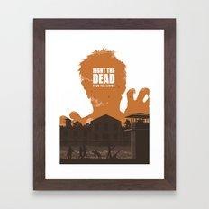 The Walking Dead Prison Walkers Framed Art Print