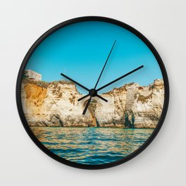 Rocks, Cliffs And Ocean Landscape At Lagos Bay Coast, Wall Art Print, Landscape Art, Poster Decor Wall Clock