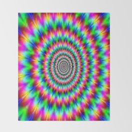 Psychadelic world Throw Blanket