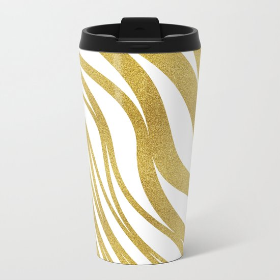 Golden Wave #society6 #decor #buyart Metal Travel Mug