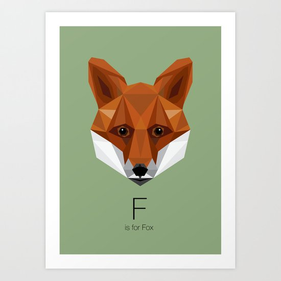 F is for Fox Art Print