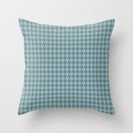 Aqua And blue Herringbone Pattern Throw Pillow