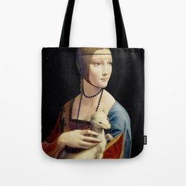 The Lady with an Ermine - Leonardo da Vinci Tote Bag