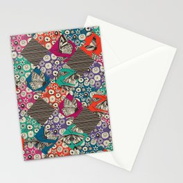 retro summer patches Stationery Cards