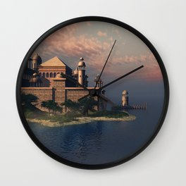 Beautiful Fantasy Town Wall Clock