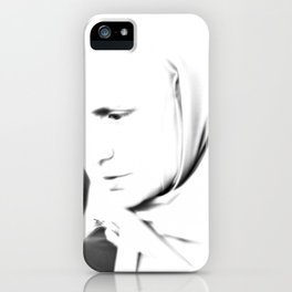 Portrait of a turkish woman at bazaar iPhone Case