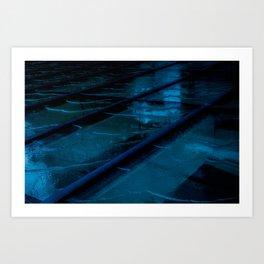 Blue Glass Waterfall Art Print