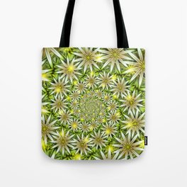 Flower Spirals Tote Bag
