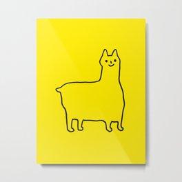 Happy Alpaca Metal Print
