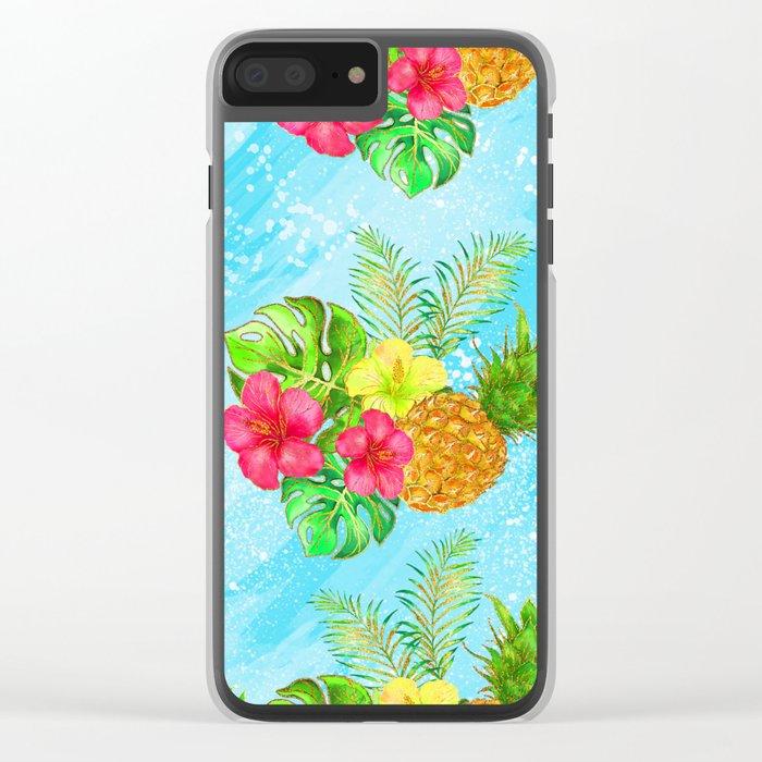 Summer Glitter #6 Clear iPhone Case