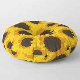 Sunflower Love Floor Pillow