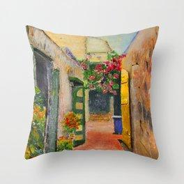 St. Croix Alley Throw Pillow