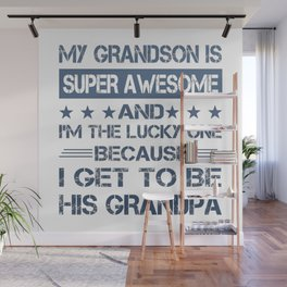 To Be His Grandpa Wall Mural