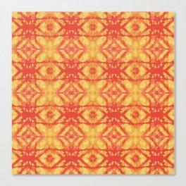 watercolor diamond stripe pattern Canvas Print