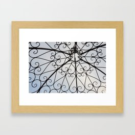 Decorative Garden Railing Framed Art Print