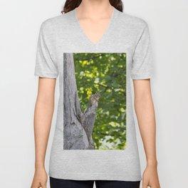 Chipmunk on a Tree Unisex V-Neck