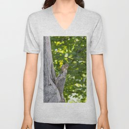 Chipmunk on a Tree Unisex V-Neck
