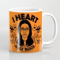 alex vause Mugs featuring I heart Alex Vause Orange - OITNB inspired by Vague