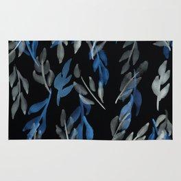 180726 Abstract Leaves Botanical Dark Mode 10 Rug