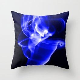 Smoke Abstract 1 Throw Pillow