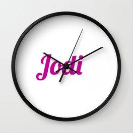 Jodi Wall Clock