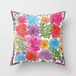 1960s Garden by Offhand Designs Throw Pillow