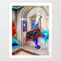 physics Art Prints featuring Physics Reloaded by Rebecca Glaze