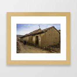 Arani's street Framed Art Print