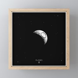 MIMAS Framed Mini Art Print