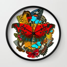 BUTTERFLIES 1- The Colors of the Nature Wall Clock