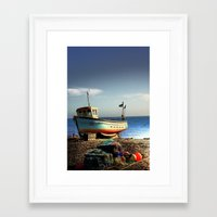 boats Framed Art Prints featuring Boats by les schofield
