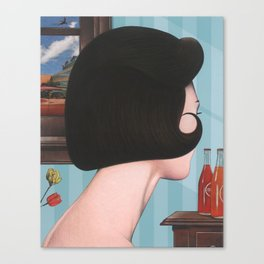 girl with hairdo Canvas Print