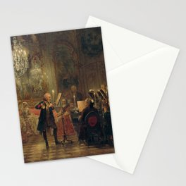 Flute Concert with Frederick the Great in Sanssouci Adolph Menzel Stationery Cards