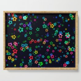 Colorful Neon Star Serving Tray