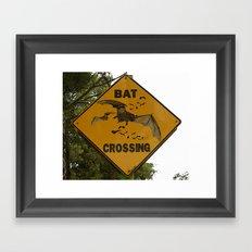 Bats Xing Framed Art Print