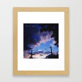 Weird clouds Framed Art Print