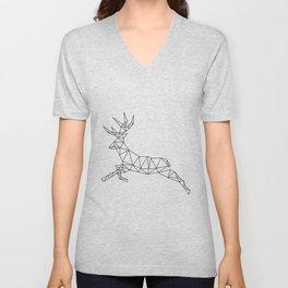 Geometric Deer 2 Unisex V-Neck